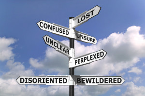 bigstockphoto_Lost_And_Confused_Signpost_2956177